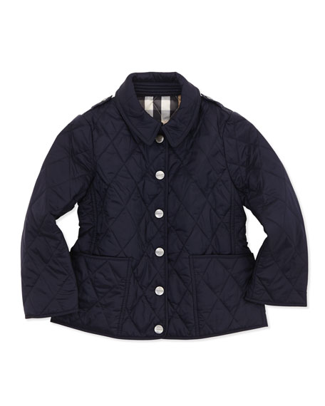 Pirmont Lightweight Quilted Nylon Jacket, Navy, 4Y-10Y