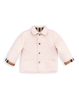 Burberry Quilted Nylon Jacket, Ice Pink, 2T-3T