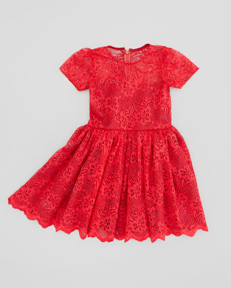 Short-Sleeve Gorgeous Lace Dress, Sizes 2T-3T
