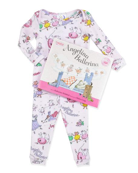 Angelina Ballerina Snug-Fit Pajamas & Book Set, Pink, 2T-3T