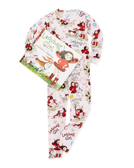 Ladybug Girl Pajamas and Book Set, 2T-3T