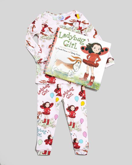 Ladybug Girl Pajamas and Book Set, Sizes 4-6X