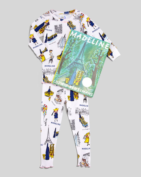 Madeline Pajamas and Book Set, 2T-3T