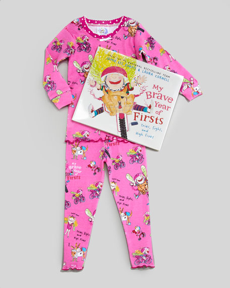 My Brave Year of Firsts Pajamas and Book Set, Sizes 4-6X