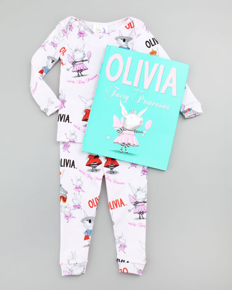 Olivia and the Fairy Princess Pajamas and Book Set, 12-18 Months