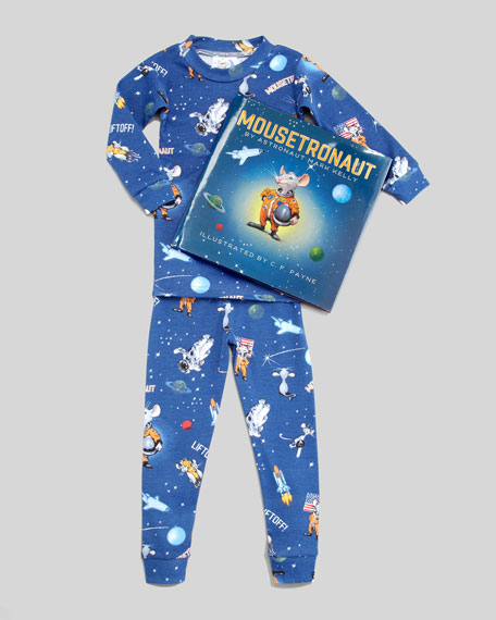 Mousetronaut Pajamas and Book Set, 2T-3T