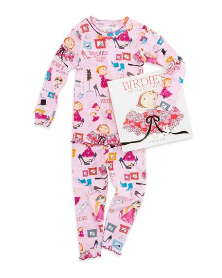 Birdie's Big-Girl Dress Pajamas and Book Set, Sizes 4-6X