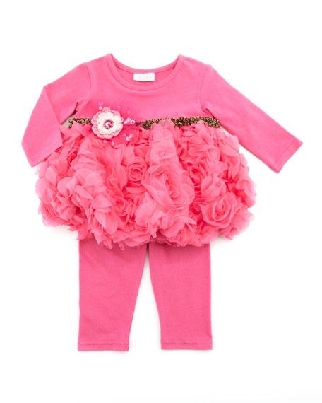 Soho Cute Swing Top & Legging Set, Hot Pink, 2T-4T