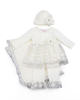 Cach Cach Twinkle Blooms Swing Top & Pants Set, 12-24 Months