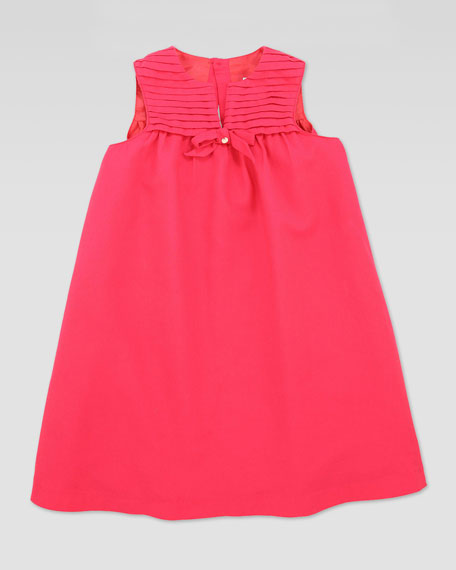 Plisse Sleeveless Dress, Pink, Sizes 2T-5