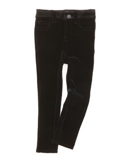7 For All Mankind The Skinny Velveteen Jeans, Black, 2T-3T