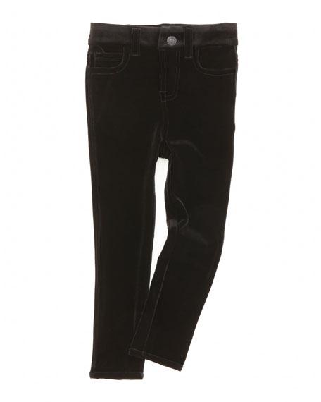 The Skinny Velveteen Jeans, Black, 2T-3T