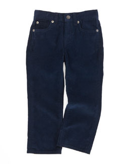 7 For All Mankind Standard Corduroy Pants, Black Navy, 4-7