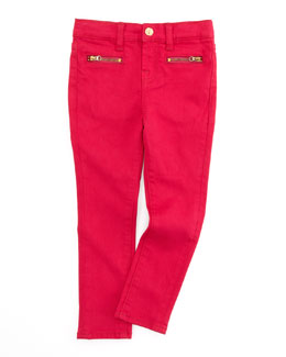 7 For All Mankind The Skinny Cerise Jeans, Pink, Sizes 4-6X