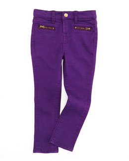 7 For All Mankind The Skinny Grape Royal, Sizes 4-6X