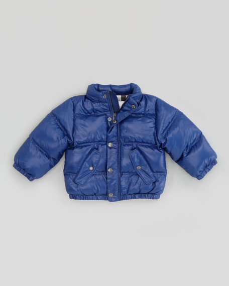 Infant Boys' Quilted Puffer Jacket, Bright Navy Blue, 12-18 Months