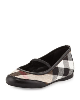 Burberry Infant Ballerina Flats, Black