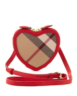 Burberry Girls' Heart Crossbody Bag, Rose