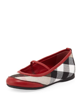 Burberry Infant Ballerina Flats, Red