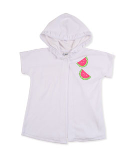 Florence Eiseman Watermelon Slice Jersey Cover-Up, White, 3-9 Months