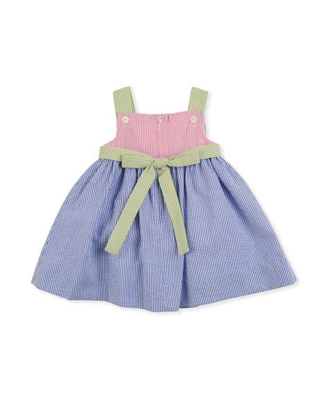 Strawberry Creek Seersucker Dress, Multi, 2T-4T
