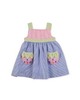 Florence Eiseman Strawberry Creek Seersucker Dress, Multi, 2T-4T