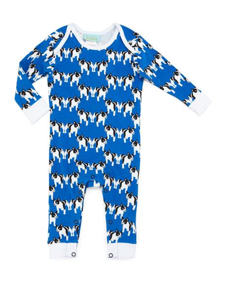 Go Fetch Blue One-Piece Pajamas, Blue