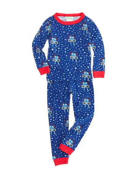 Robots Two-Piece Pajamas, Sizes 2-8