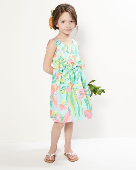 Little Kingston Floral-Print Dress, Blue, Sizes 2-6