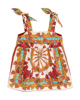 Dolce & Gabbana Wheel-Print Sleeveless Dress, 3-18 Months
