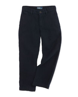 Ralph Lauren Childrenswear Suffield Linen Pants, Aviator Navy, Sizes 4-7
