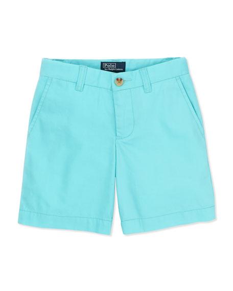 Preppy Cotton Shorts, Vacation Blue, 4-7