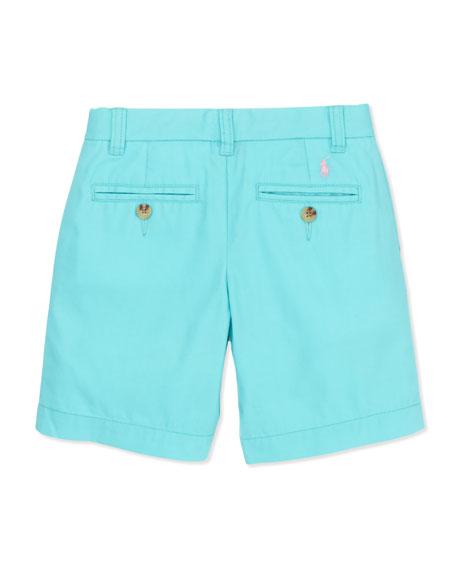 Preppy Cotton Shorts, Vacation Blue, 2T-3T