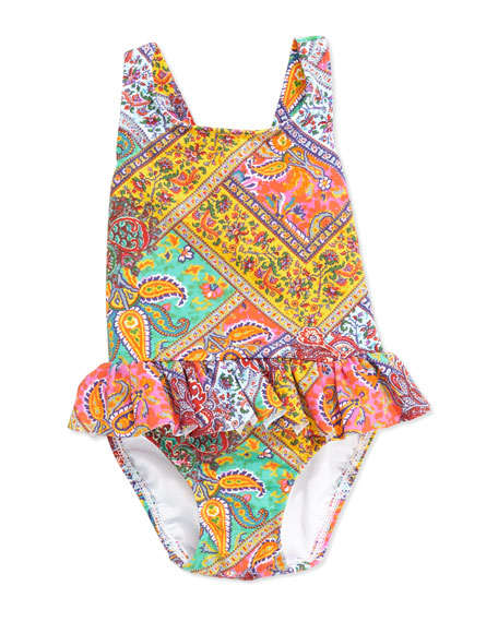Paisley One-Peice Swimsuit, 6-24 Months