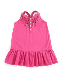 Ralph Lauren Childrenswear Drop-Waist Little Tank Dress, Belmont Pink, 9-24M