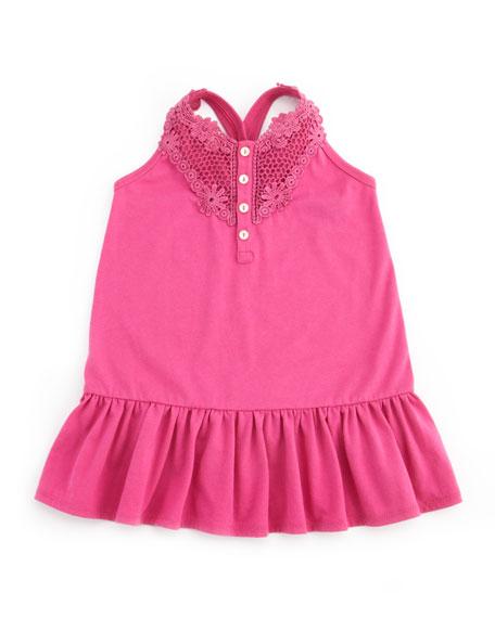 Drop-Waist Little Tank Dress, Belmont Pink, 9-24M