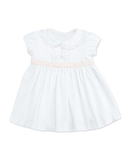 Ralph Lauren Childrenswear Contrast-Sash Jersey Dress, White, 3-9 Months
