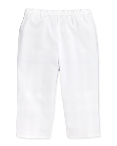 Burberry Casual Cotton Trousers, White, 3-18 Months