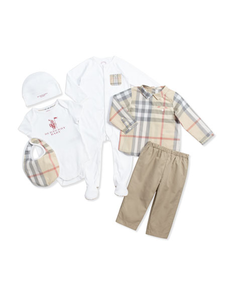 Burberry Baby Gift Sets : Burberry maximilian infant boys five piece gift set