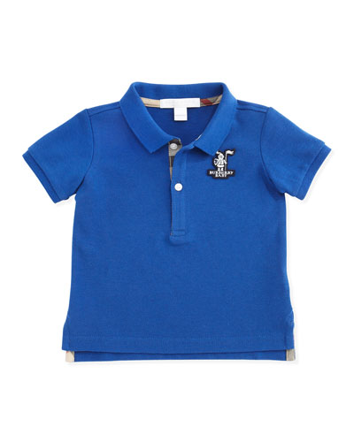 Burberry Infant Boys' Check-Trim Polo, 3-18 Months