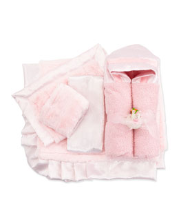 Swankie Blankie Swiss Dot & Stripe Security Blanket, Pink