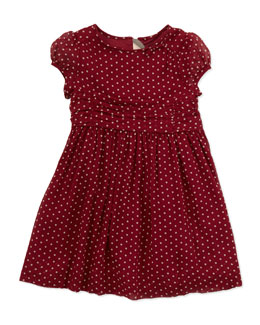Burberry Polka-Dot Silk Dress, 4Y-10Y