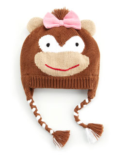 Zubels Girls' Ballerina Monkey Hat, Red