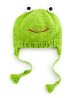 Zubels Frog Knit Hat, Green