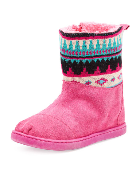 Nepal Suede Boots, Pink, Youth
