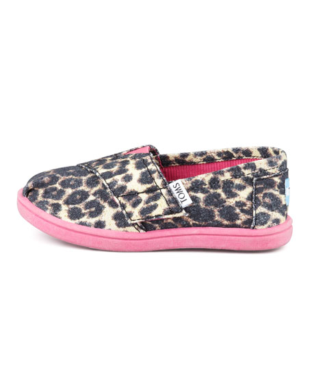 Leopard-Print Canvas Slip-On, Tiny