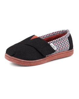 TOMS Houndstooth Classic Slip-On, Tiny