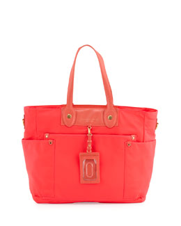 MARC by Marc Jacobs Eliz-A-Baby Preppy Nylon Diaper Bag, Peach