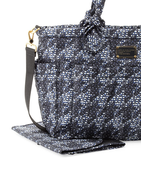 Pretty Nylon Eliz-A-Baby Diaper Bag, Indigo