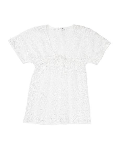 Animal-Print One-Shoulder Swimsuit, 2-6/7